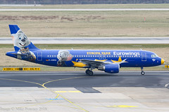 D-ABDQ - 2007 build Airbus A320-214, Europa Park logojet taxiing to gate at Dusseldorf (egcc) Tags: 3121 a320 a320214 airbus dabdq dus dusseldorf eddl ew ewg europapark eurowings lightroom rheinruhr logojet