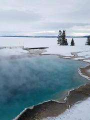 Yellowstone NP Trip - Day 4 (156) (tommaync) Tags: yellowstone yellowstonenationalpark yellowstonenp park national february 2018 wyoming nikon d7500 nature hotspring water blue steam snow ice