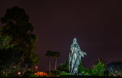 our lady of peace shrine (pbo31) Tags: bayarea california southbay santaclaracounty nikon d810 color april spring 2018 boury pbo31 night dark black art santaclara religion stmary peace sculpture roman catholic parish diocese sanjose church giant silver park