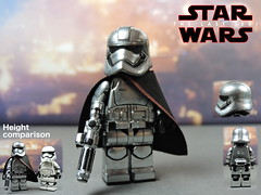 Custom LEGO Star Wars The Last Jedi: Captain Phasma (Will HR) Tags: starwars lego thelastjedi captainphasma