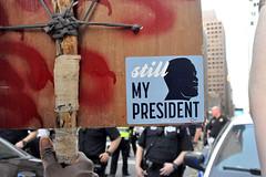 still (greenelent) Tags: notrump protest demonstration riseandresist streets people activists nyc newyork
