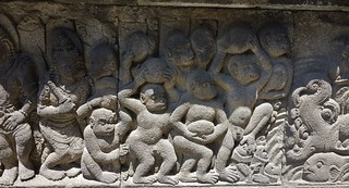 INDONESIEN, Java, hinduistische Tempelanlage Prambanan, Relief, 17340/9885