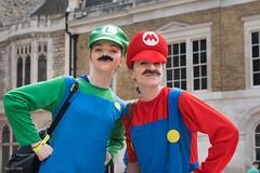 Luigi and Mario (RoySutherland235) Tags: luigi mario supermario londoncharactergames cosplay