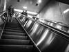 Escalators (ColinParte) Tags: olympus mono monochrome harajuku tokyo