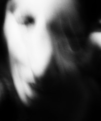 me and me (Nassia Kapa) Tags: surreal nassiakapa eye grain darkness shadow self soul portrait inside iamlaura uncanny disturbing look abstract emotional noit bw blackandwhite id ego selfportrait