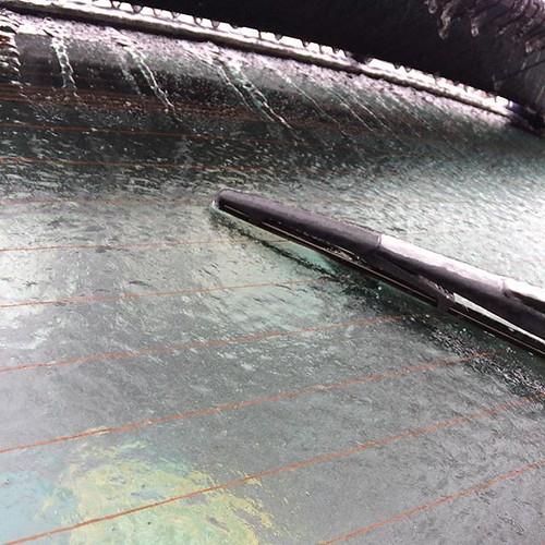 My car waits #icestorm #april #freezingrain #amityfarmbatik