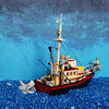 Jaws : You're Gonna Need a Bigger Boat (Kloou.) Tags: lego kloou jaws lesdentsdelamer movie film classic movies shark requin brody moc bateau boat dentdelamer