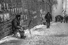 Pikk Jalg (Markus Heinonen Photography) Tags: taiteilija artist pikk jalg tallinn tallinna eesti estonia europe street photography road people black white bw old town vanalinn