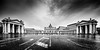 Piazza San Pietro (Jakub Slovacek) Tags: bw basilicadisanpietro bazilikasvatéhopetra cittàdelvaticano europe italia italy piazzasanpietro roma rome stpetersbasilica stpeterssquare unesco vatican vaticancitystate worldheritagesite architecture basilica blackandwhite church city cityscape clouds colonnade column cupola dome historical landmark morning obelisk panorama people square statue street symmetry travel ngc