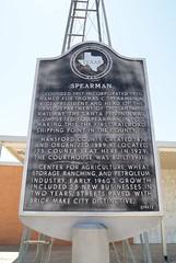 Spearman (ednurseathkh) Tags: texas texashistoricalmarker hansfordcounty spearman 18x28 thomascspearman town