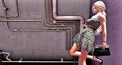 Smoking Break♥ (danaorianaor) Tags: entice truth blog blonde black mini avatar secondlife beauty dress bag leen moles kuku dana