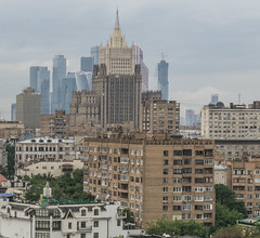 Moscow Skyline (iammattdoran) Tags: moscow russia skyline central international business centre tall buildings tallest skyscraper europe commercial residential cityscape stalinist architecture towers brick glass slender straight lines sony a6000 photography city vantage view distant metropolitan juxtaposed soviet communist