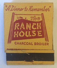 THE RANCH HOUSE SAN MATEO CALIF (ussiwojima) Tags: ranchhouse restaurant bar cocktail lounge sanmateo california advertising matchbook matchcover