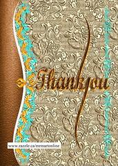 Stylish calligraphy in decorative art Thank You card (cyrusmorr) Tags: thankyou decorative calligraphy ornamentalartwork beautiful bluegreen brown