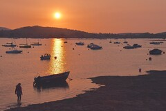 Estuary Sunset (Nige H (Thanks for 12m views)) Tags: nature landscape seascape estuary exmouth riverexe exeestuary devon sunset sundown england silhouette boats