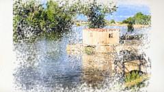las aceñas (sitoelone) Tags: zamora duero aceñas acuarela paisaje