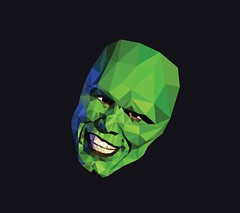 The Mask (LazyCreativity) Tags: mask jim carrey green white teeth art polygon lowpoly illustration illustrator photoshop movie wallpaper profile picture
