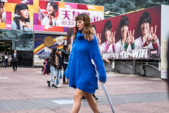 Blue, Really Blue (burnt dirt) Tags: asian japan tokyo shibuya station streetphotography documentary candid portrait fujifilm xt1 laugh smile cute sexy latina young girl woman japanese korean thai dress skirt shorts jeans jacket leather pants boots heels stilettos bra stockings tights yogapants leggings couple lovers friends longhair shorthair ponytail cellphone glasses sunglasses blonde brunette redhead tattoo model train bus busstation metro city town downtown sidewalk pretty beautiful selfie fashion pregnant sweater people person costume cosplay umbrella blue bright fuzzy furry
