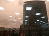 saharan sandstorm passing through (n.a.) Tags: 5nc trading floor wiq 1wiq canary wharf west india quay london docklands e14 yellow sky reflections fluorescent lighting squares