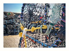 Crab/Lobster pots, StIves, Cornwall (Mark Curnow Photography) Tags: stives fishing crabpot lobsterpot harbour colour vivid cornwall cornish cornishcoast outdoorphotography outdoors bright rope summer season