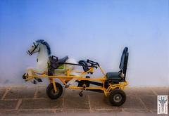 "#InspiraciónBdF62 ""Unicycle with horse on blue wall"" (MARITAWE) Tags: inspiraciónbdf62 spiritofphotography"