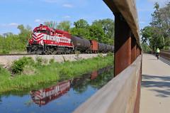 McFarland, Wisconsin (UW1983) Tags: trains railroads wisconsinsouthern wsor wamx madisonsubdivision gp392 wsor35thanniversaryunit l469 mcfarland wisconsin