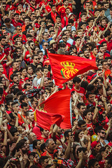 _MG_0916 (sergiopenalvagonzalez) Tags: rcdmallorca futbol football ball people ambiente palma palmademallorca aficion pasion rojo negro ib3 diariodemallorca sergiopenalvagonzalez sergiopenalvag gente emocion nervios ascenso alegria