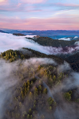 Humboldt Heaven (rootswalker) Tags: humbolt northerncalifornia redwoods fog aerialphotography flow sunset