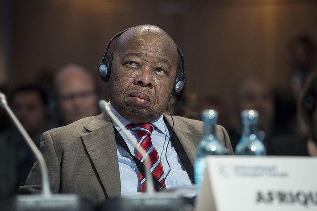 Bonginkosi Emmanuel Nzimande attends the Open Ministerial Session