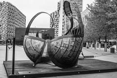 Big Bra! (Rob A Dickinson) Tags: nikon d7100 nikkor24120f4 london blackandwhite monochrome o2 bra sculpture