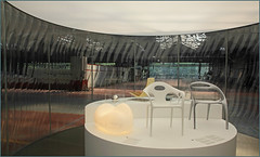 """Pavillon Lasvit LiquidKristal"", 2012 Ross Lovegrove pour Lasvit, ""Kanal - Centre Pompidou"", quai des Péniches, Bruxelles, Belgium (claude lina) Tags: claudelina belgium belgique belgië bruxelles brussels kanal centrepompidou kanalcentrepompidou musée museum garagecitroënyser citroën exposition oeuvre art pavillonlasvitliquidkristal"