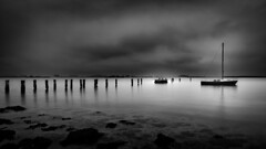 Across the Other Side (JDS Fine Art Photography) Tags: boat waterscape longexposure atmosphere monochrome bw