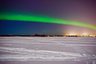 Amazing display of Aurora Borealis over Rovaniemi, Lapland, Finland