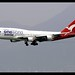 B747-438/ER   Qantas   oneworld   VH-OEF   HKG