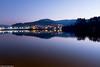 En la hora azul ([Kralik]) Tags: galicia españa mar ciudad tarde sombras reflejos farolas luces ocaso colores azul