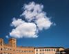 Piazza del Campo (Ignacio Ferre) Tags: siena toscana tuscany italy italia nube cloud cielo sky nikon arquitectura edificio building piazzadelcampo palazzosansedoni