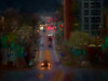 the drive home (boriches) Tags: street rain night painterly