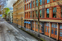 Historic Old Town (Ian Sane) Tags: ian sane images historicoldtown max trains tracks light rail service urban photography old town portland oregon canon eos 5ds r camera ef1740mm f4l usm lens