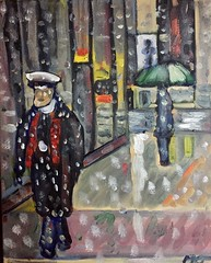 New Yorkers in the snow (The Big Jiggety) Tags: doorman concierge snow neige umbrella parapluie manhattan regenschirm paraguas insouciance