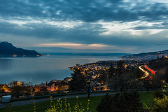 Leman lake sunset (01sephiroth) Tags: 2018 lac suisse sunset montagne lake leman montreux