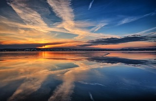 Reflection in ice and sea, Norway
