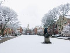 (Cjin99) Tags: providence rhodeisland unitedstates us ri winter snow brownuniversity collegehill spring