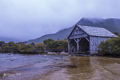 Dove Lake Boathouse. (R. Francis) Tags: dovelake dovelakeboathouse boathouse cradlemountain cradlemountainnationalpark fog clouds ryanfrancis ryanfrancisphotography tasmania tasmanianhighlands