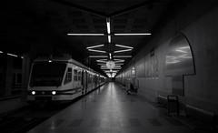 Locarno FART (Ferrovie Autolinee Regionali Ticinesi SA) (Toni_V) Tags: m2407310 rangefinder digitalrangefinder messsucher leicam leica mp typ240 type240 28mm elmaritm12828asph fart locarno station bahnhof locarnodomodossola bw monochrome blackwhite sep2 silverefexpro2 niksoftware tessin ticino switzerland schweiz suisse svizzera svizra europe bahn zug train perspective ©toniv 2018 180421