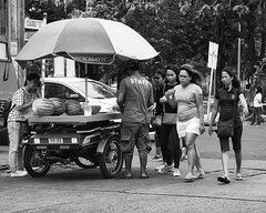 Melon Man (Beegee49) Tags: street vendor cart melons selling filipina pedestrians bacolod city philippines