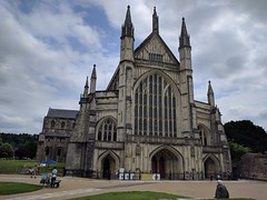 Winchester (ancientlives) Tags: cathedral church christian england anglican uk europe clouds spire tower bells religion tuesday june 2018 spring walking trips history winchester winchestercathedral hampshire