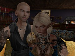 Comrades (Eydis§Sunshine) Tags: firestorm secondlife secondlife:region=firebird secondlife:parcel=ruinsofxenarkforestandcaverns secondlife:x=224 secondlife:y=158 secondlife:z=58 friends cozy couch oriental elf thief smile tattoo fantasy