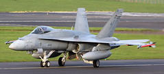 HN-419  Finnish Air Force McDonnell Douglas F-18C Hornet arriving at Prestwick from Bangor Maine.10/5/18 (BS Images.) Tags: hn419 finland mcdonnelldouglas boeing f18 f18c military fighter airport aircraft aviation ayrshire egpk glasgowprestwick gpa prestwick pik southayrshire scotland