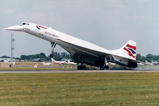 G-BOAF Concorde RIAT arrival 1997