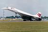 G-BOAF Concorde RIAT arrival 1997 (John Higgins (EF)) Tags: aviation aircraft aviationphotography raffairford royalinternationalairtattoo riat airlineindustry airline bac bacsud concorde concorde102 britishairways speedbird supersonic gboaf alphafoxtrot bristol rollsroyce riat97